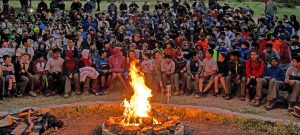 Scouts at Campfire