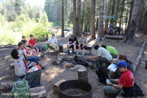 Scouts on a campout