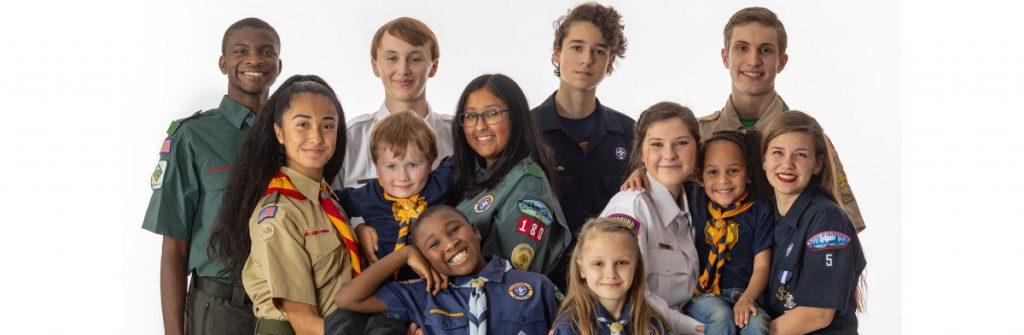 BSA Scouts in uniforms