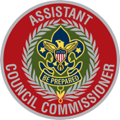 This is a decorative image of the Assistant Council Commissioner's badge of office