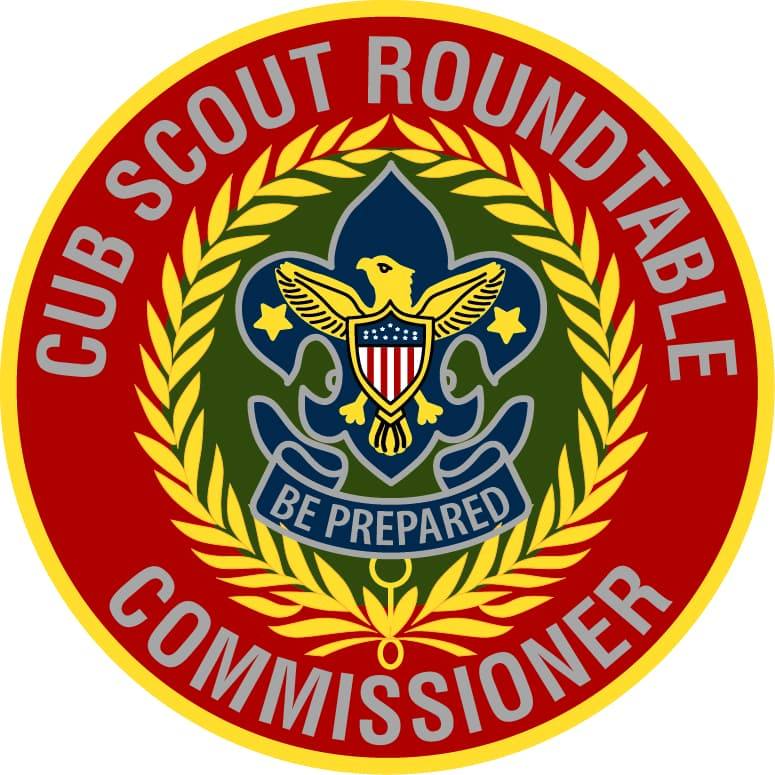 This is a decorative image of the Cub Scout Roundtable Commissioner's badge of office