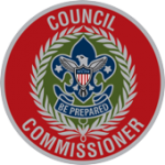 This is a decorative image of the Council Commissioner's badge of office