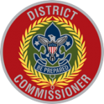 This is a decorative image of the District Commissioner's badge of office
