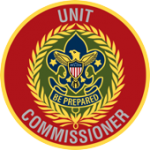 This is a decorative image of the Unit Commissioner's badge of office