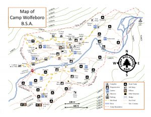 This is an updated map of Camp Wolfeboro