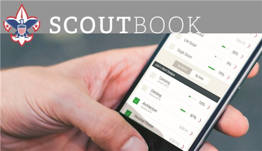 Scoutbook on cell phone image
