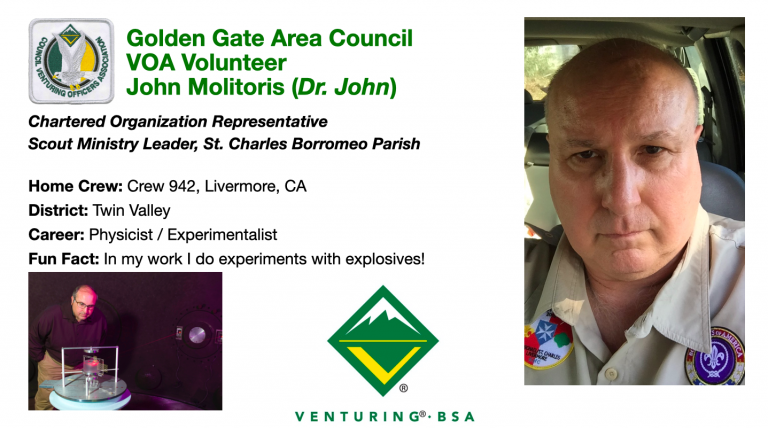 Golden Gate Area Council VOA Adult Dr. John Molitoris