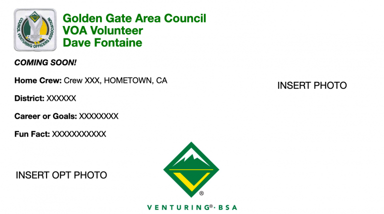 Golden Gate Area Council VOA Advisor Dave Fontaine