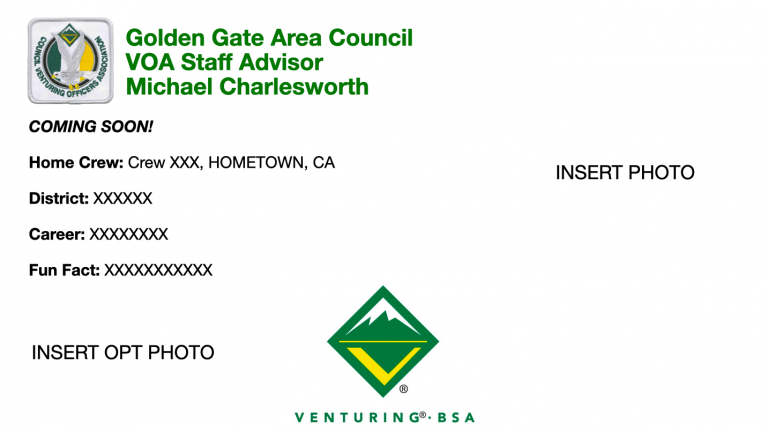 Golden Gate Area Council VOA Staff Advisor Michael Charlesworth