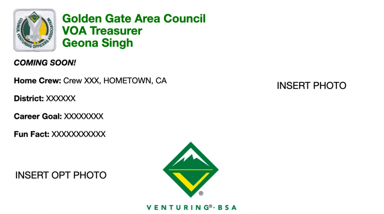 Golden Gate Area Council VOA Treasurer Geona Singh