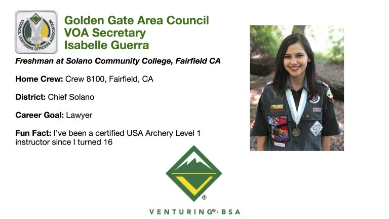 Golden Gate Area Council VOA Secretary Isabelle Guerra