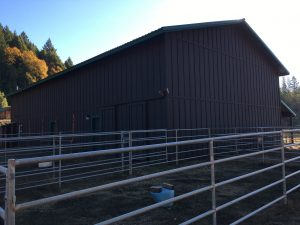Risin' W Corral barn and outdoor stalls