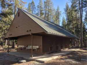 Image of Showerhouse after remodel at Camp Wolfeboro