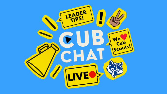 Graphic promoting a podcast called Cub Chat.